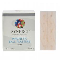 Plastry z magnesami o mocy 800 Gauss'ów w kolorze srebrnym