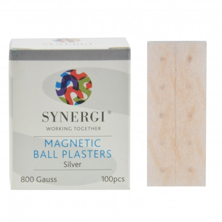 Plastry z magnesami SYNERGI - srebrne - moc 800 Gauss'ów
