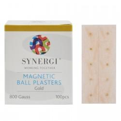 Plastry z magnesami o mocy 800 Gauss'ów w kolorze złotym