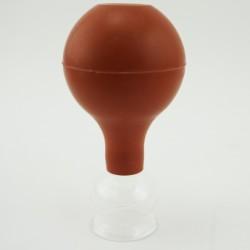 Szklana bańka próżniowa z gruszką - 2,5 cm