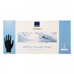 Rękawiczki nitrylowe - jednorazowe - czarne - 100 szt.