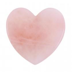 Serce - przyrząd do Gua Sha z różowego kwarcu