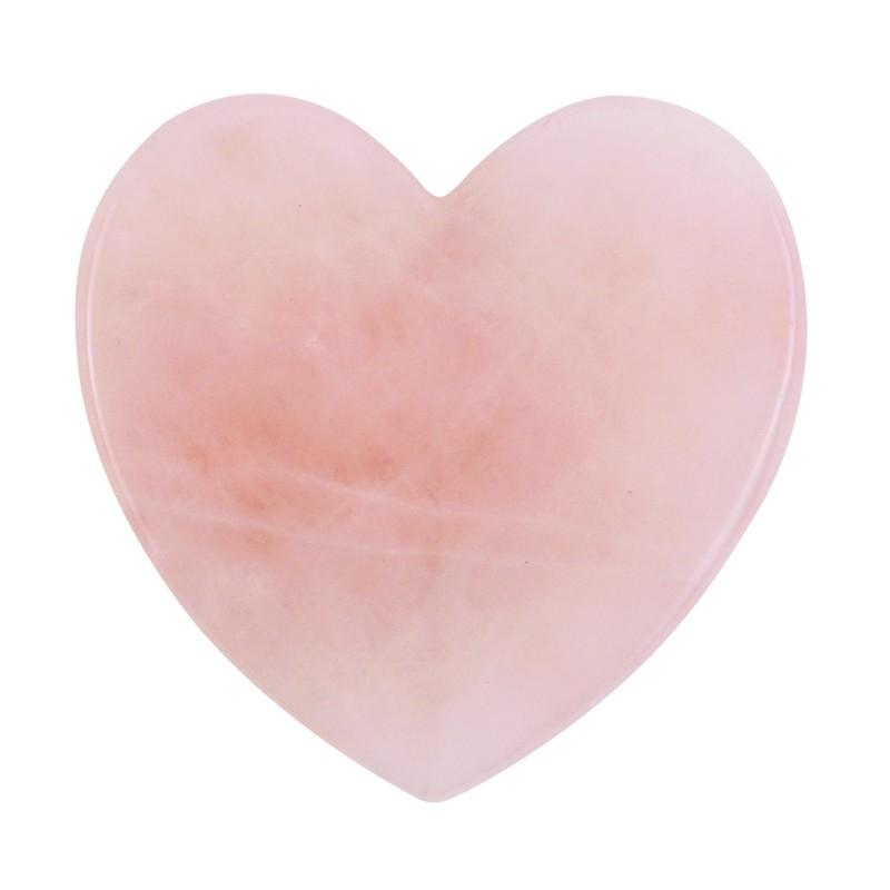 Serce - przyrząd do Gua Sha różowego kwarcu