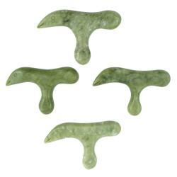 Jadeitowy przyrząd do scrapingu - gua sha - Czapla