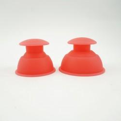Bańki chińskie silikonowe bezogniowe dla sportowców - 2 szt.
