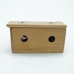 Pudełko bambusowe do moksoterapii oczu