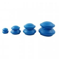 Zestaw baniek chińskich gumowe - 4 szt. niebieskie