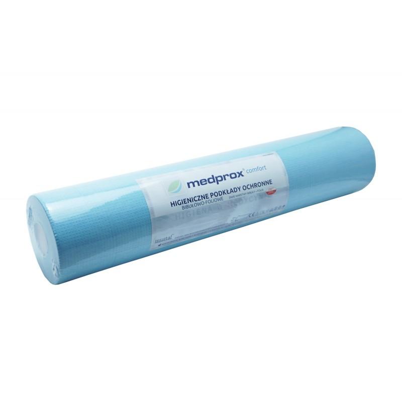 Podkład medyczny z celulozy - 50 x 50 cm - niebieski