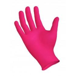 Rękawiczki nitrylowe - jednorazowe - różowe