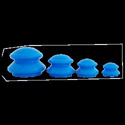 Zestaw silikonowych baniek chińskich - 4 szt. niebieskie