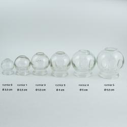 Porównanie rozmiarów baniek szklanych