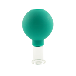Bańka gumowo-szklana do masażu próżniowego twarzy - 2,5 cm