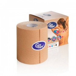 Cure Tape - taśma do kinesiotapingu - 7,5 cm x 5 m - tejp beżowy