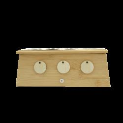 Bambusowe pudełko na 4 moksy