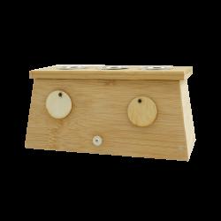 Bambusowe pudełko na 3 moksy