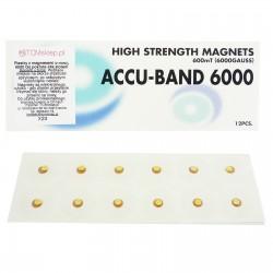 Plastry z magnesami o mocy 6000 Gauss'ów pokryte 24k złotem 12 szt.