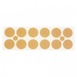 Plastry z magnesami o mocy 800 Gauss'ów pokryte 24k złotem 24 szt.